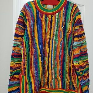 Coogi colorful sweater size large